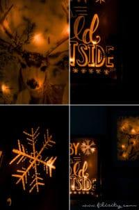 Hyggelige Winterdeko: Beleuchtete Poster selber machen