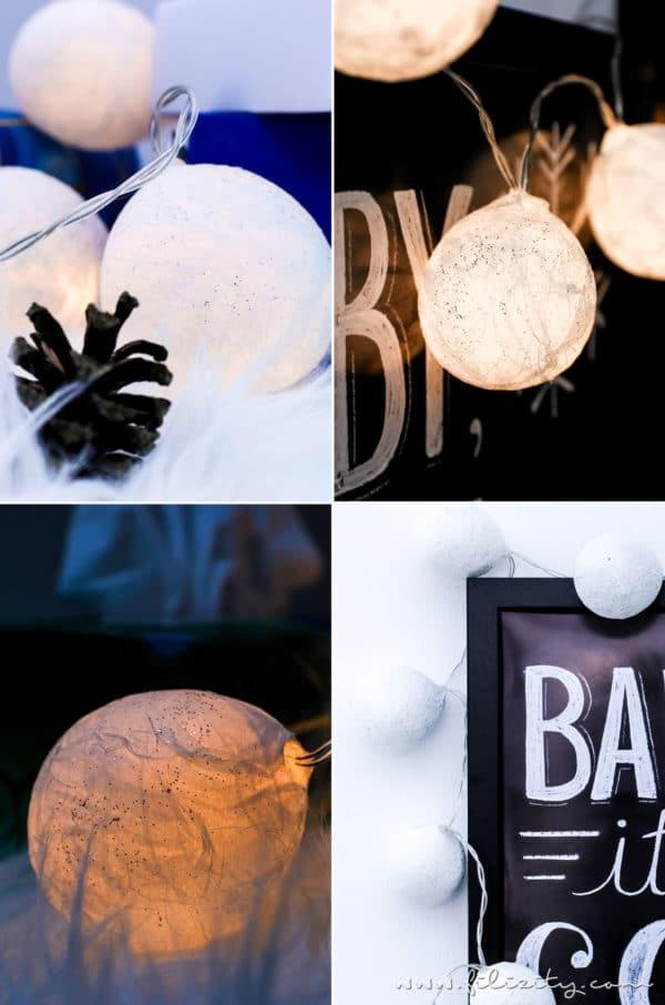 diy lichterkette mit taschentuch lampenschirmen handmade kultur. Black Bedroom Furniture Sets. Home Design Ideas