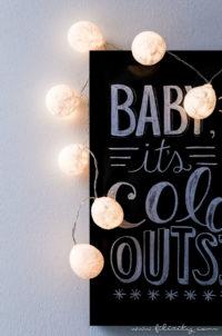 DIY Lichterkette mit Taschentuch-Lampenschirmen
