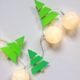 Lichterkette mit Tannenbäumen selber machen