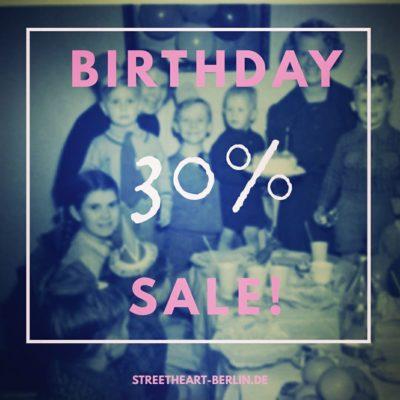 30% BIRTHDAY SALE!