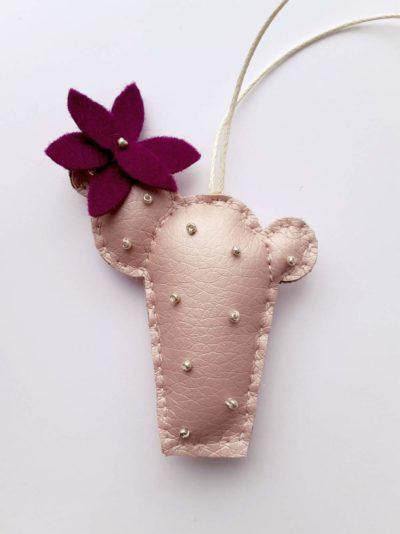 Kaktus Schlüsselanhänger Becky (rosa/pink)
