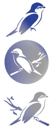 Blaumeise – Winterliche Fensterdeko [Plotterfreebie]