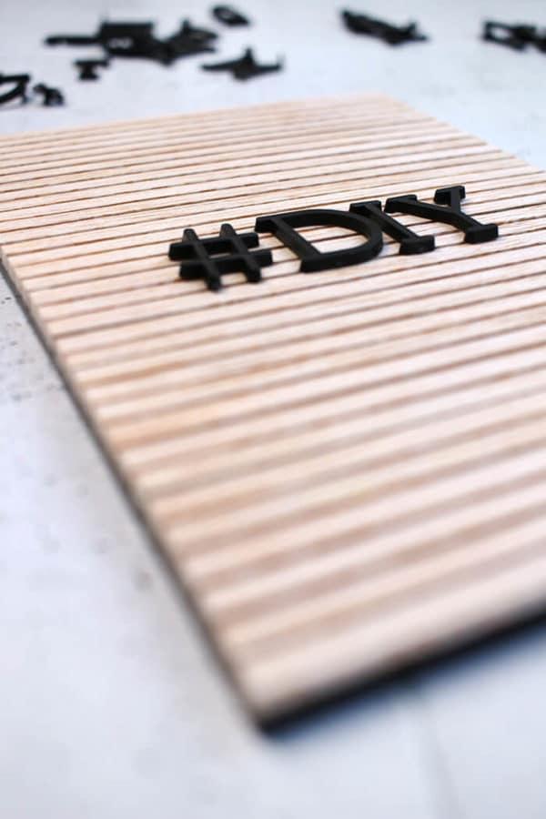 DIY Letterboard aus Holz selbst bauen