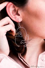 DIY Ohrringe mit Gesichtern