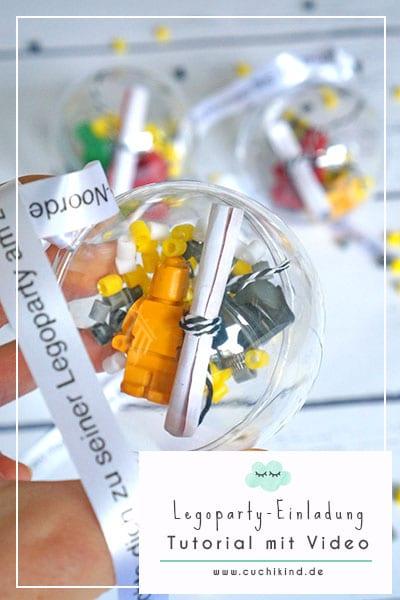 Einladungen für die Legoparty