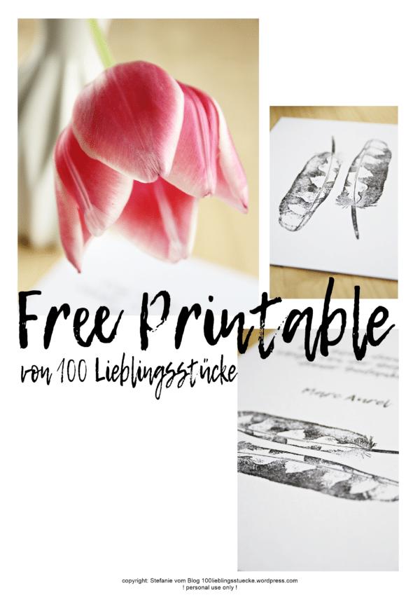 Federhaftes für Euch {Free Printable}