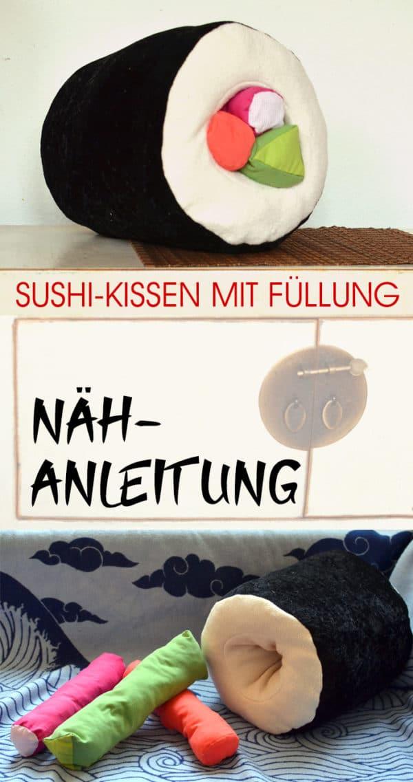 Nähanleitung: Maki-Sushi-Kissen