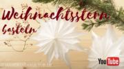Weihnachtsstern basteln - Video Tutorial