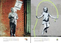 Streetart Wandkalender Banksy