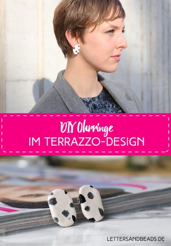 Ohrringe mit Terrazzo-Look