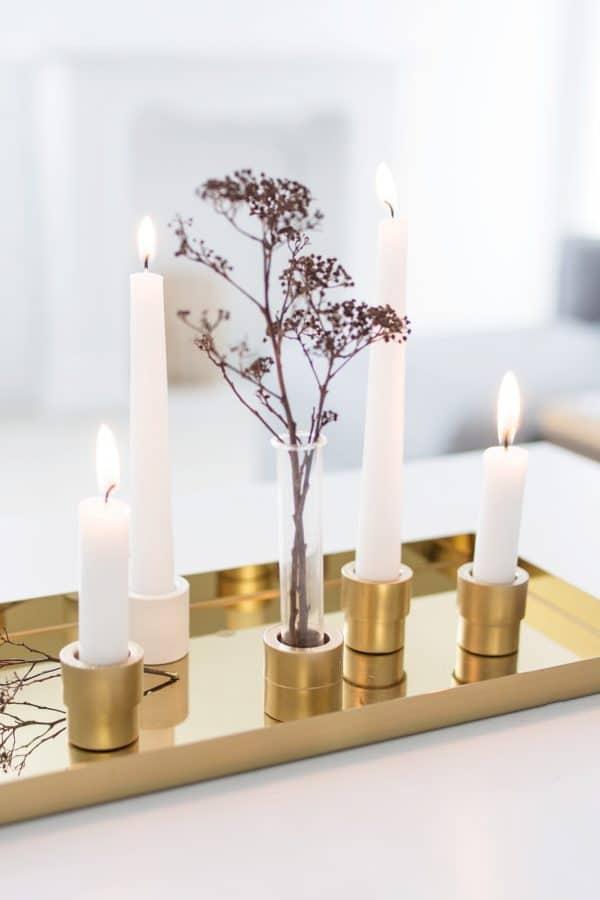 DIY Kerzenhalter aus Baumarktutensilien