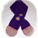 Stoffresteverwertung :  Schal aus Fleece nähen mit Schleife zum Durchziehen von einem Schalende