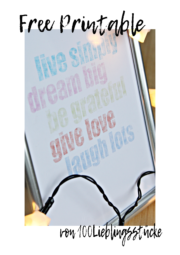 live simply - dream big {Free Printable}
