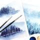 Malen lernen mit Aquarell: Winterwald