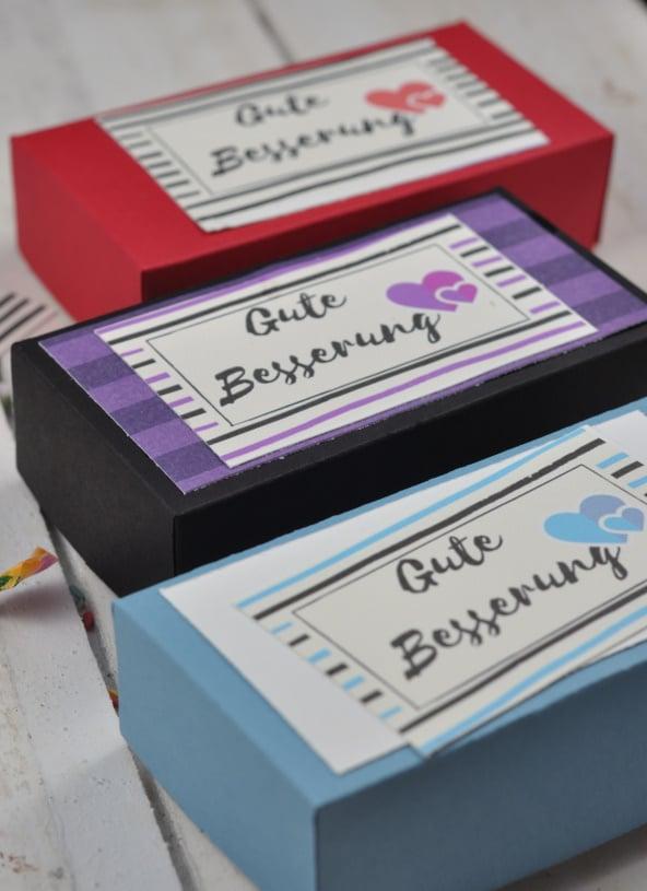diy gute besserung box aus papier basteln handmade kultur. Black Bedroom Furniture Sets. Home Design Ideas