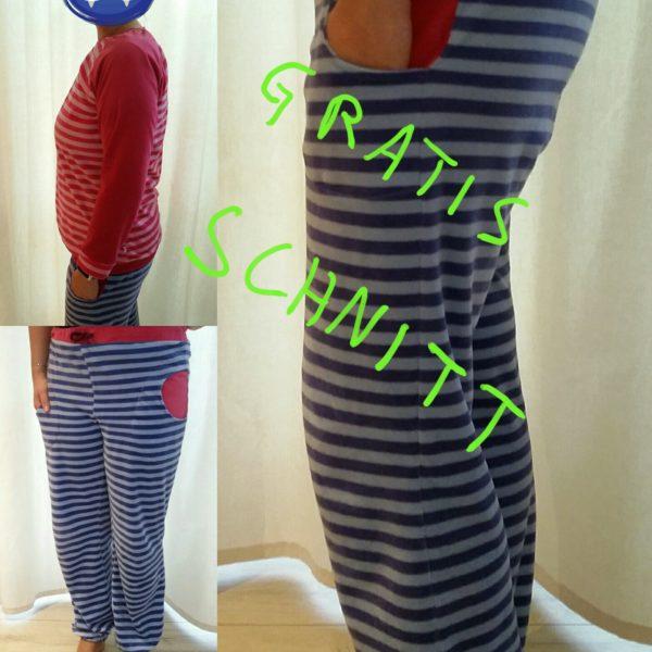Kostenlose Schnittmuster: Schlafanzug