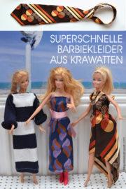 Upcycling: Barbiekleider aus Krawatten