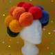 Clowns-Perücke aus Pompons