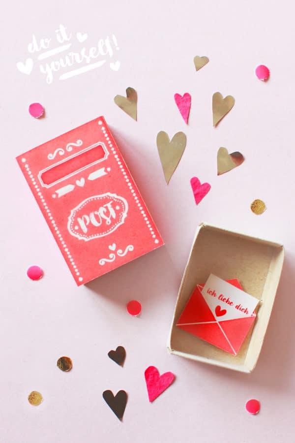 Diy Streichholzschachtel Zum Valentinstag Free Printable