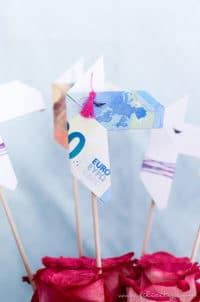 Geldgeschenk Origami Lamas