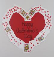 Herz aus Spielkarten