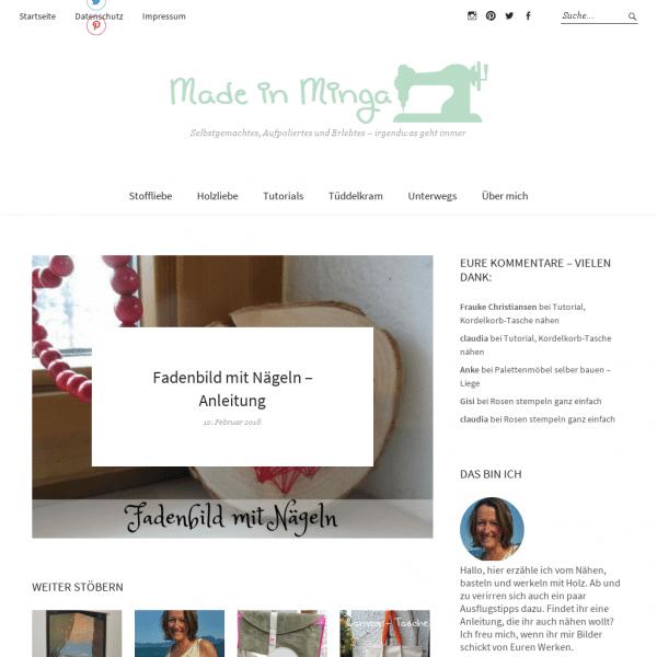 Made in Minga | Anleitungen zum Nähen und Selbermachen