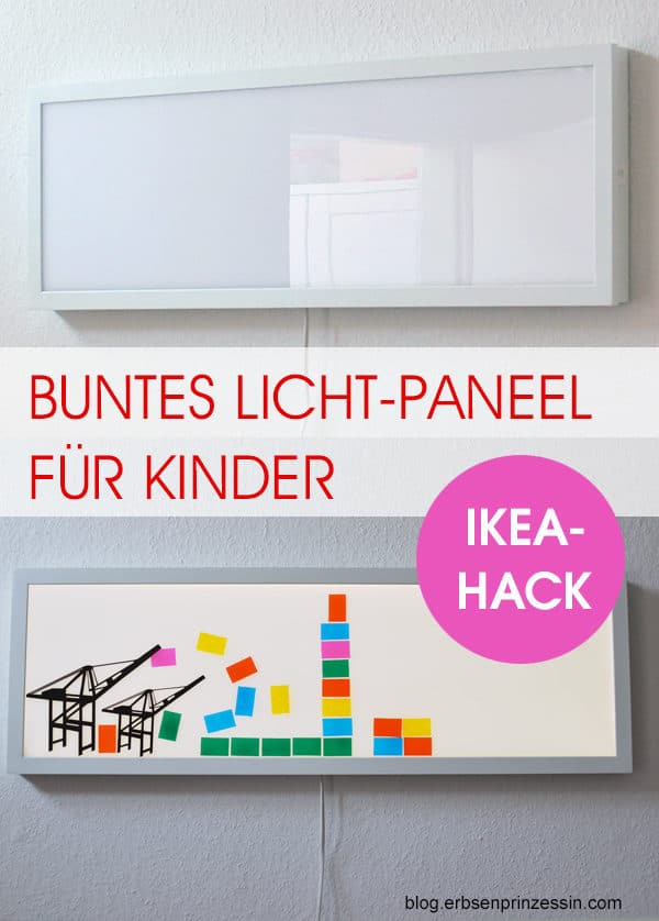 Lichtpaneel f rs kinderzimmer diy wanddeko handmade kultur for Ikea wanddeko