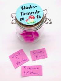 Süße DIY Idee - Glücksmomente im Glas sammeln
