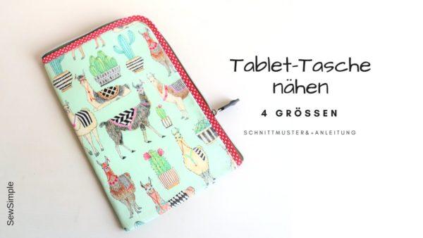 Anleitung: Tablet Tasche nähen | mit Schnittmuster