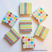 DIY - Magnete aus Holzresten mit Textilklebeband