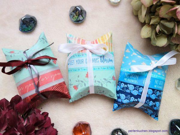 DIY - Upcycling mit Washi Tape - Geschenkschachtel aus Toilettenpapierrolle
