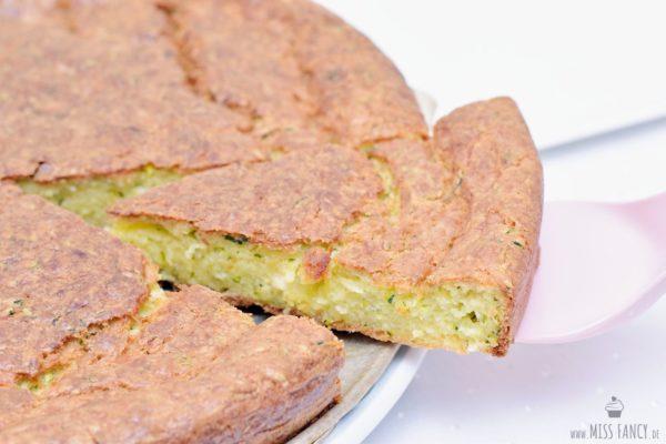 Zucchini Pecorino Kuchen – nicht schön aber lecker