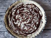 Tarte au Chocolat mit Cheesecake Swirl