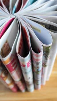 Ablagetisch aus Zeitungen | DIY