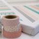 Washi Tape auf Keilrahmen