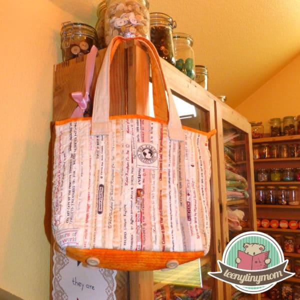 Sommertasche aus Webkanten