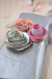 Papierblumen - Süße Idee aus Papierresten