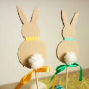 DIY - Blumentopfstecker Hase und Ei - mit kostenloser Vorlage