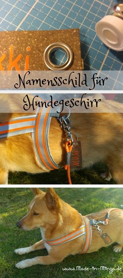 Namensschild für das Hundegeschirr - HANDMADE Kultur
