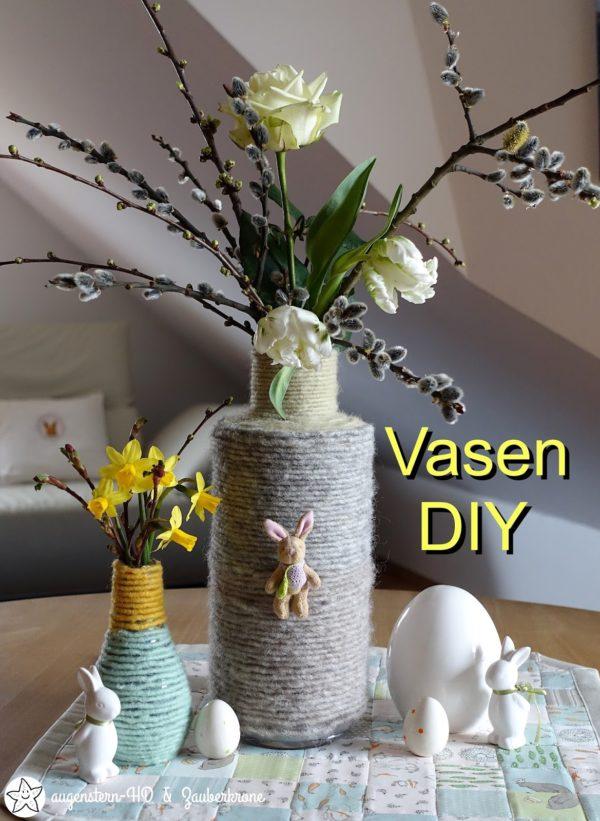 {Anleitung} Ein schnelles Vasen DIY