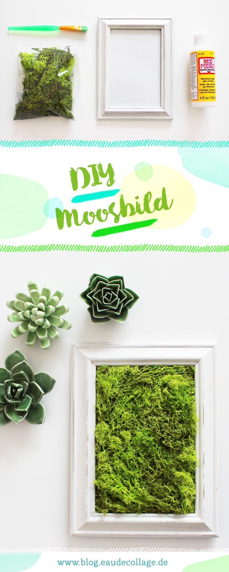DIY MOOSBILD SELBER MACHEN / WANDDEKO MIT ISLANDMOOS ...