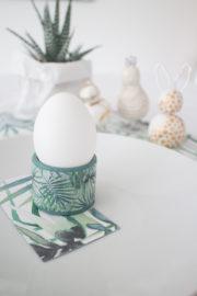 Urban Jungle: Eierbecher basteln mit Deko Klebeband