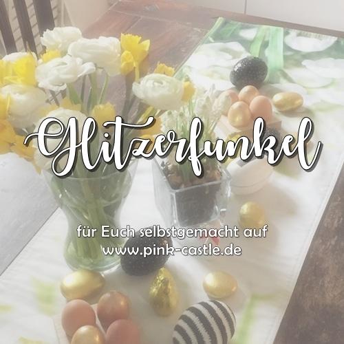 Glitzerfunkel Osterdeko / Pailetten und Gold funkeln um die Wette