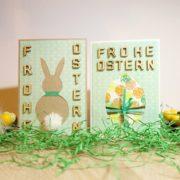 DIY - Osterkarten selber basteln - mit Vorlage zum Herunterladen - kostenlos
