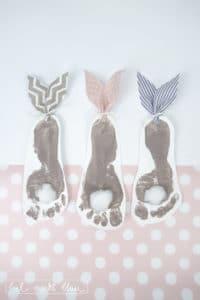 Kleine Hasen-Fußabdrücke
