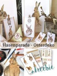 Hasenparade – Osterdeko ganz klassisch