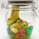 Osternest im Glas selber machen - süße Geschenkidee