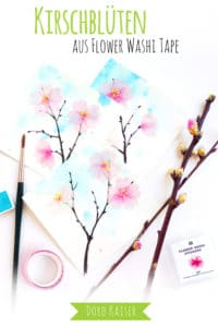 Zweige mit Kirschblüten aus Flower Washi Tape