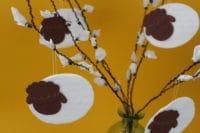 Osterlämmchen aus Wattepads